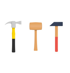 set hammers vector image