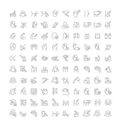 Set line icons cosmetology and plastic surgery vector