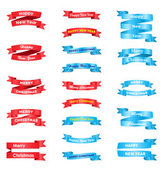 set of various greeting ribbons vector image