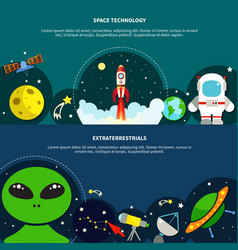 space technology banners set vector image