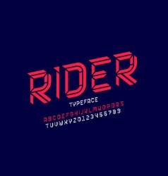 sport style modern font vector image