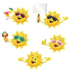 Sun Character Set vector