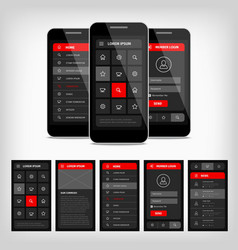 template mobile user interface vector image