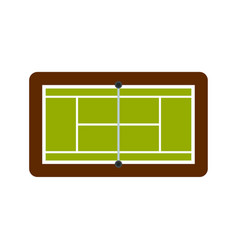 Tennis court icon flat style vector