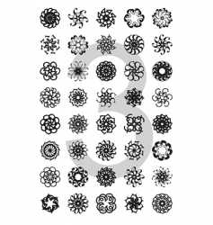 Typo design element series vector