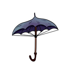 umbrella sticker doodle vector image