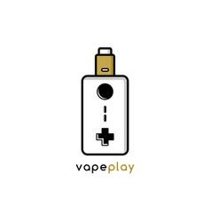 Video game joystick console theme vaporizer vape vector