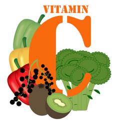 Vitamin c healthy nutrient rich food vector