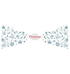 winter holiday background christmas border vector image
