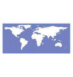 World ocean map full of fish vector