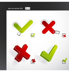 yes no ticks vector image