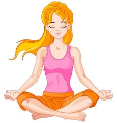 Yogi Girl vector image