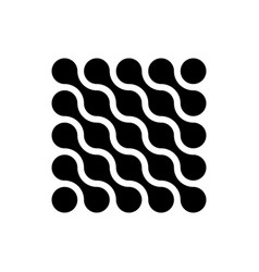 Connected dots in a shape of square black vector