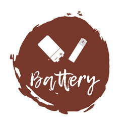 Recycling waste sorting icon - battery vector