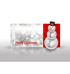 Snowman on the christmas greeting card Abstract vector image vector image