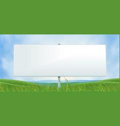 spring or summer wide white billboard vector image vector image