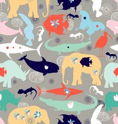 texture of different wild animals vector image