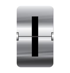 Alphabet silver flipboard letters i vector image vector image