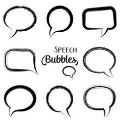 black speech bubbles vector image