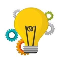 bulb idea creative innovation vector image