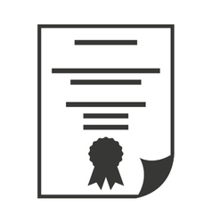 Diploma certificate paper icon vector