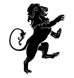 heraldic rampant lion vector image vector image