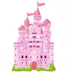 magic princess castle vector image vector image