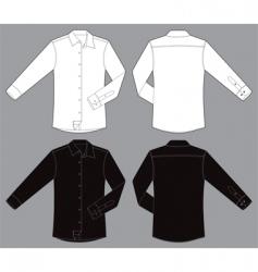 men long sleeves business shirt vector image