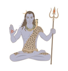 Shiva vector image vector image