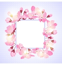 Spring lettering Blossoming tree brunch with vector image vector image