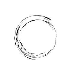 Circle grunge ink spot background vector image vector image