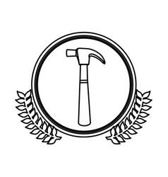 figure symbol hammer icon stock vector image