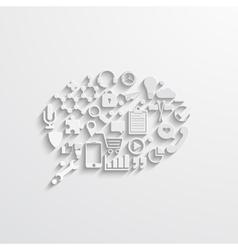 modern bubble speech Business background vector image