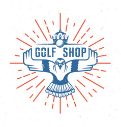 retro of golf badge vector image vector image