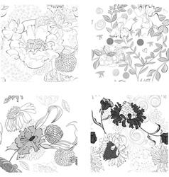 set of summer seamless wallpaper vector image vector image