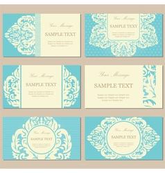 vintage cards blue vector image