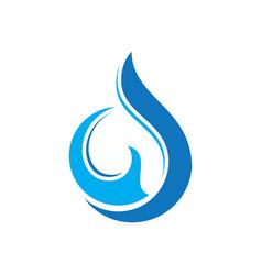 abstract swirl water drop logo vector image