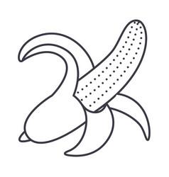 banana line icon sign on vector image