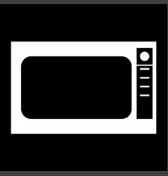 microwave oven it is the white color icon vector image