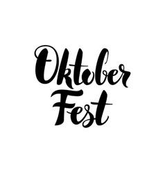 Oktoberfest lettering postcard vector