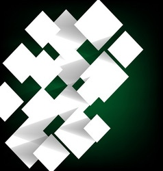 Paper square banner on green background vector image
