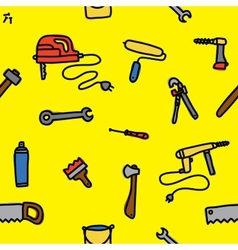 Tools seamless pattern vector image vector image