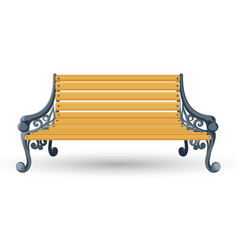 wooden bench isolated on white background place vector image