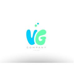 aaaaa alphabet letter blue green logo icon design vector image