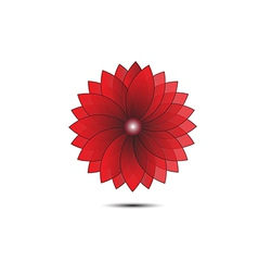 Abstract flower red geometrical vector image