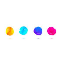 abstract liquid shape design fluid vector image