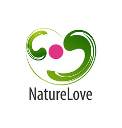 abstract nature love logo concept design symbol vector image