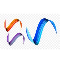 Acrylic paint brush stroke gradient colors vector