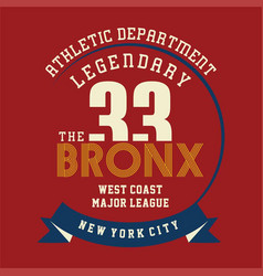 Athletic legendary new york vector