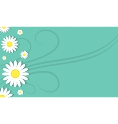 Background of flower spring style vector